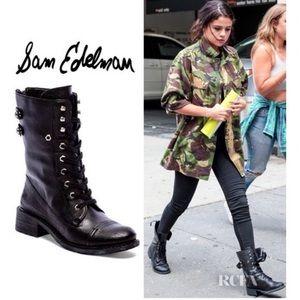 Sam Elderman Women's Darwin Combat Leather Boots